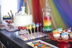 Rainbow Unicorn Party #rainbow #party