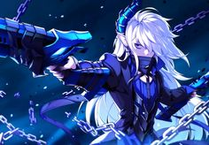 Anime Guys, Lu Elsword, Elsword Anime, Wallpaper Backgrounds, Wallpaper Art, Game Character, Character Outfits, Blade And Soul, Fantasy Warrior