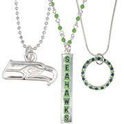 Seattle Seahawks Women's Trio Necklace Set