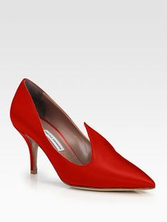 Tabitha Simmons Pixie Satin Pumps- eternally fabulous shoes! love the color and shape, and the heel is not too high