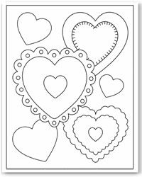 Valentines Day Coloring Pages Flower vases