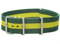 Textiles Uhrenarmband - Nato Strap - Grün/Gelb