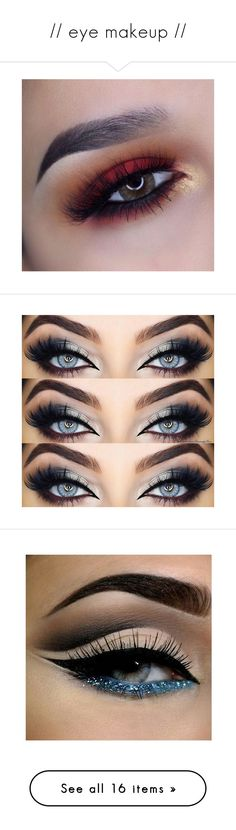 """// eye makeup //"" by golden-elixr ❤ liked on Polyvore featuring beauty products, makeup, eye makeup, eyeshadow, palette eyeshadow, eyes, eyeliner, bath & beauty, eyeliners and grey"