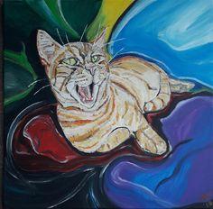 Katze, cat, Acrylmalerei, Acrylicpainting, paintings, 2018 Grinch, Cats