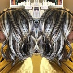 Hair von: Sharon Teceno – - All About Hairstyles Blonde Hair With Highlights, Brown Blonde Hair, Colored Highlights, Low Lights And Highlights, Thick Highlights, Blonde Brunette, Covering Gray Hair, Grey Wig, Brown Hair Colors