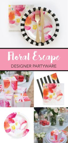 Flower Escape By Paper Eskimo | This Fresh and Elegant Collection is a Wonderful Addition to any Bridal Shower, Birthday Celebration and Baby Shower