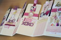 Mini album book of tags