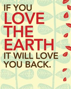 Love The Earth  Art Print by FoxHunterStudios on Etsy, $15.00