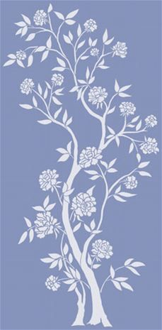 Create a classic, elegant look with this large Chinoiserie rose tree stencil. Use it alone, or create a pattern by. Tree Stencil For Wall, Wall Stencil Patterns, Tree Wall Art, Stencil Designs, Diy Wall Art, Wallpaper Stencil, Chinoiserie Wallpaper, Stencil Painting, Paint Stencils