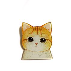 Japanese cat Ginger cat, Cute Funny Acrylic Plastic Brooch Pin Backpack Pin Geek Geeky Geekery Unique Gift Idea for cat lovers by XenaStyle on Etsy https://www.etsy.com/listing/246754104/japanese-cat-ginger-cat-cute-funny