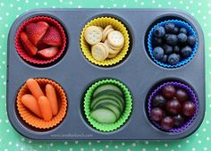 Muffin Tin Monday - rainbow of food for St. Patrick's Day | Flickr - Photo Sharing!