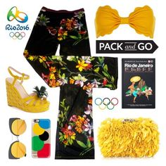 """Pack n Go RIO!"" by groove-muffin ❤ liked on Polyvore featuring Kate Spade, Opening Ceremony, Marysia Swim, Casetify, Corto Moltedo and Monocle"