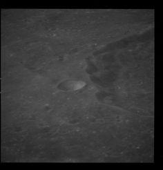 Apollo 8 Hasselblad image from film magazine 13/E - Lunar Orbit, Trans-Earth Coast