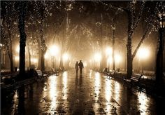 Rainy Night, Odessa, Ukraine photo via laura