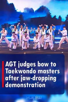 The world taekwondo team is in to give an amazing performance at the America's got talent show. This team that consists of over 10 people delivers a jaw-dropping performance. Simon Cowell, Howie Mandel, Heidi Klum, and Sofia Vergara, are blown away. From the coordinated routine to the blindfolds and breaking bricks in the air. It's almost like a whole scene from a movie. #agt #america'sgottalent #destructions #chinesefilm #korea #taekwando #martialarts #BTS America's Got Talent Videos, Got Talent Show, Agt Judges, World Taekwondo, Howie Mandel, Terry Crews, Simon Cowell, Martial Artists, Sofia Vergara