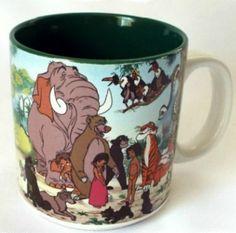 Walt Disney Mug Jungle Book Coffee Cup Mowgli Characters Novelty Retired 1992 #Disney #CoffeeMugCup