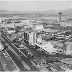 SUN FILE PHOTO A 1964 aerial view of the Las Vegas Strip shows the Desert Inn and New Frontier hotels. The control tower-like Landmark hotel wouldn't open until 1968 after it was purchased by Howard Hughes. Hughes himself would come to live in the penthouse suite of the Desert Inn in 1966, where he would negotiate purchases that would change the face of Las Vegas.