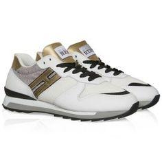 Sneakers Hogan Rebel Running R261 in pelle bianco