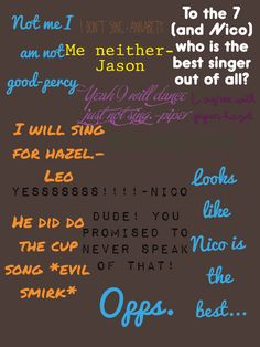 Niiiiccco doing the cup song... Why is that so imaginable...>>> awwww! Nico! ummm... can I sing with you?