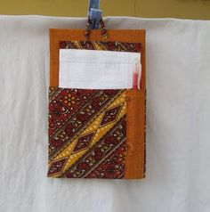 DIY--Fab Do-List Holder! using Cardboard & fabric