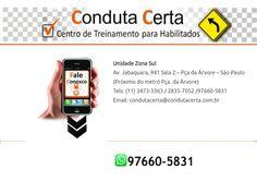 Medo de dirigir? Precisa Treinar?  www.medodedirigirsp.com.br