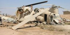 """Former Iranian Army Aviation CH-47C """"5-4090"""" (manufactured by Elicopteri Meridionali, in Italy), as found at al-Taji AB, in central Iraq, in 2003. (via chinook-helicopter.com)"""