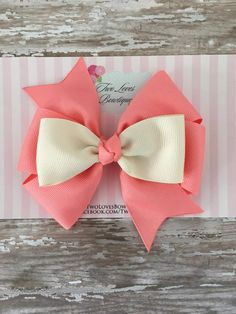 Items similar to hair bows,coral hair bows,hair bows for girls,boutique hair bow. - bow styles to try - Flower Headband Wedding, Flower Hair Bows, Baby Hair Bows, Flower Headbands, Diy Headband, Ribbon Flower Tutorial, Hair Bow Tutorial, Ribbon Hair Bows, Bow Hair Clips