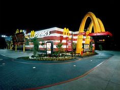 Exterior shot of a McDonald's in Dallas, Texas shaped like a Happy Meal box    #mcdonalds #McDonald's #HappyMeal