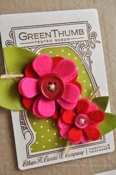 felt flowers - would be soo easy and could add clips for hair clips!