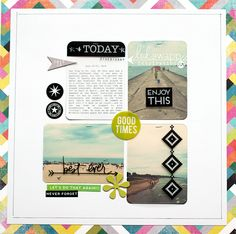 Lovely layout created by Maggie Massey using Heidi Swapp's Project Life Clear Value Kit.