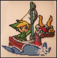 Legend of Zelda Wind Waker Link Perler Bead Sprite by KantoCrafts.deviantart.com on @DeviantArt