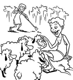 Cain and Abel Coloring Page – Children's Ministry Deals | 257x235