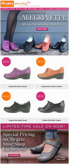 New Fall arrivals to Alegria! Introducing the Alegria Etta | Alegria Shoe Shop