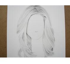 Cómo dibujar cabello blanco