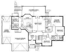 french country rambler home hwbdo74748 new american house plan from builderhouseplanscom - Rambler House Plans
