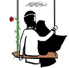 Love Wallpaper For Mobile, Miniature Photography, Cute Muslim Couples, Anime Muslim, Hijab Cartoon, Poster Background Design, Islamic Girl, Islamic Wallpaper, Beautiful Nature Wallpaper