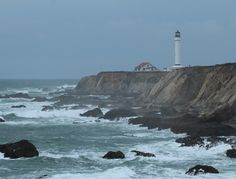 The historic 115-foot lighthouse tower at Point Arena Lighthouse in Mendocino County sits on a spit of land jutting two miles into the ocean. It's also one of the few lighthouses you can climb to the top of for a brilliant balcony panorama of the Pacific Coast. Daytime visitors come and go, but for a truly magical experience surrounded by the sea, spend the night here! Point Arena has six ocean-facing cottages.