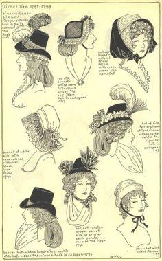 1795-99 - différentes coiffures