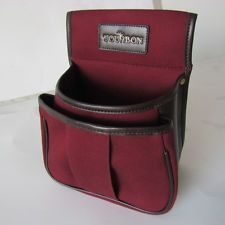 Tourbon Hunting Vintage Canvas And Real Leather Shotgun 50 Cartridges Bag Pouch