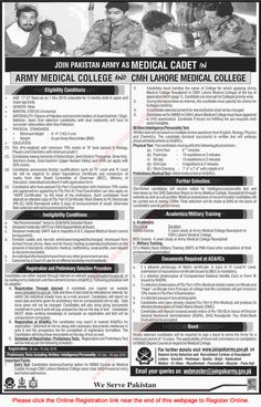 Join Pakistan Army as Medical Cadet 2016 June Online Registration Latest Advertisement Jobs in Pakistan Government Of Pakistan, Pakistan Army, Army Jobs, Latest Jobs In Pakistan, Online Registration, Job Ads, Medical College, June, Recruitment Advertising
