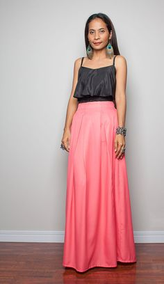 Maxi Skirt - Long Dark Grey Skirt : Autumn Thrills Collection No ...