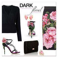 """""""Dark floral.."""" by nihal-imsk-cam on Polyvore featuring moda, Dolce&Gabbana, Mansur Gavriel, Stephen Webster ve Gavello"""
