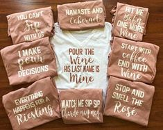 Long sleeve shirt or sweatshirt- custom bachelorette party quotes/sayings - Bachelorette Party Themes, Destinations & Game Ideas Bachlorette Party, Bachelorette Party Quotes, Bachelorette Party Planning, Bachelorette Shirts, Bachelorette Weekend, Bridal Party Shirts, Wine Quotes, Wine Parties, Just In Case