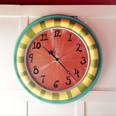 Drab to Fab: Painted Clock #handpainted #home #DIY
