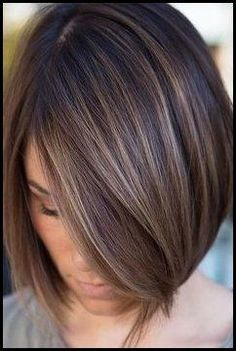 Must see brunette Bob hairstyles Bob Style Haircuts, Long Bob Hairstyles, Haircut Style, Brunette Hairstyles, Short Brown Hair, Short Hair Cuts, Short Hair Styles, Brunette Bob, Balayage Bob Brunette