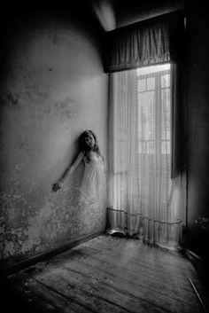 dark surreal; beauty woman stark photography black white - Google Search