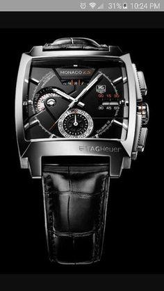 1c6ee632f16 Relógio TAG Heuer Monaco Black - Pulseira couro