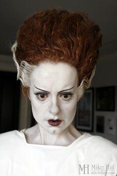 """Elsa Lancaster as the Bride in 1935's, """"Bride of Frankenstein"""" SCULPTURE by Mike Hill: Maker of Monster, Myth, & Men."""