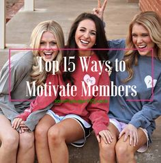 Is your chapter suffering from lack of participation and waning enthusiasm? Are just a handful of sisters doing all the work? Check out sorority sugar's 15 simple tips for boosting engagement and sparking more sorority spirit across your membership.  <3
