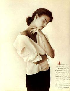 Vogue IT - Linda Evangelista - Sep 1988 - by Peter Lindbergh